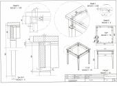 2D detail tekening tafeljte
